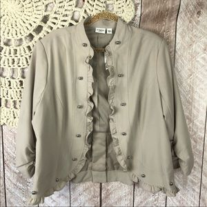 New Catos ruffled ruched plus size casual Blazer